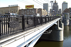 Fencing for the Borodinsky bridge (Moscow)